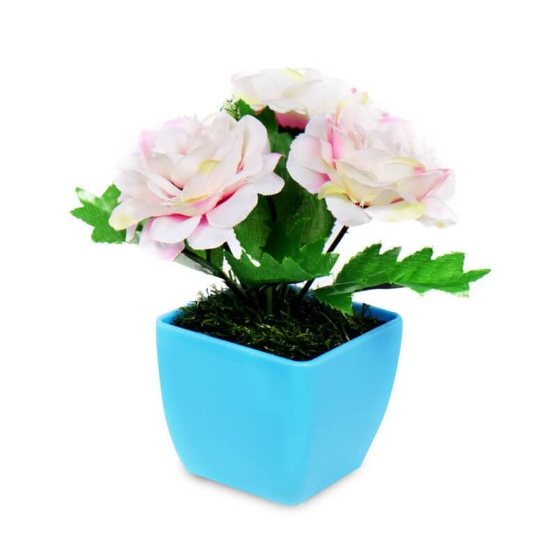 Buket Meja Mini Cute Rose Tropical Sweet Flower