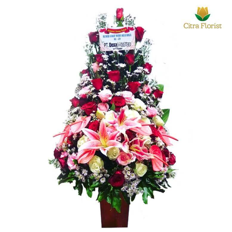 (SBY) Buket Meja Segar High Style Roses and Lily