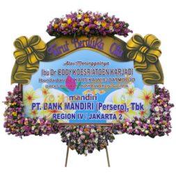 Bunga Papan 1 JUTA Duka banner pita sterofoam bawahan mahkota