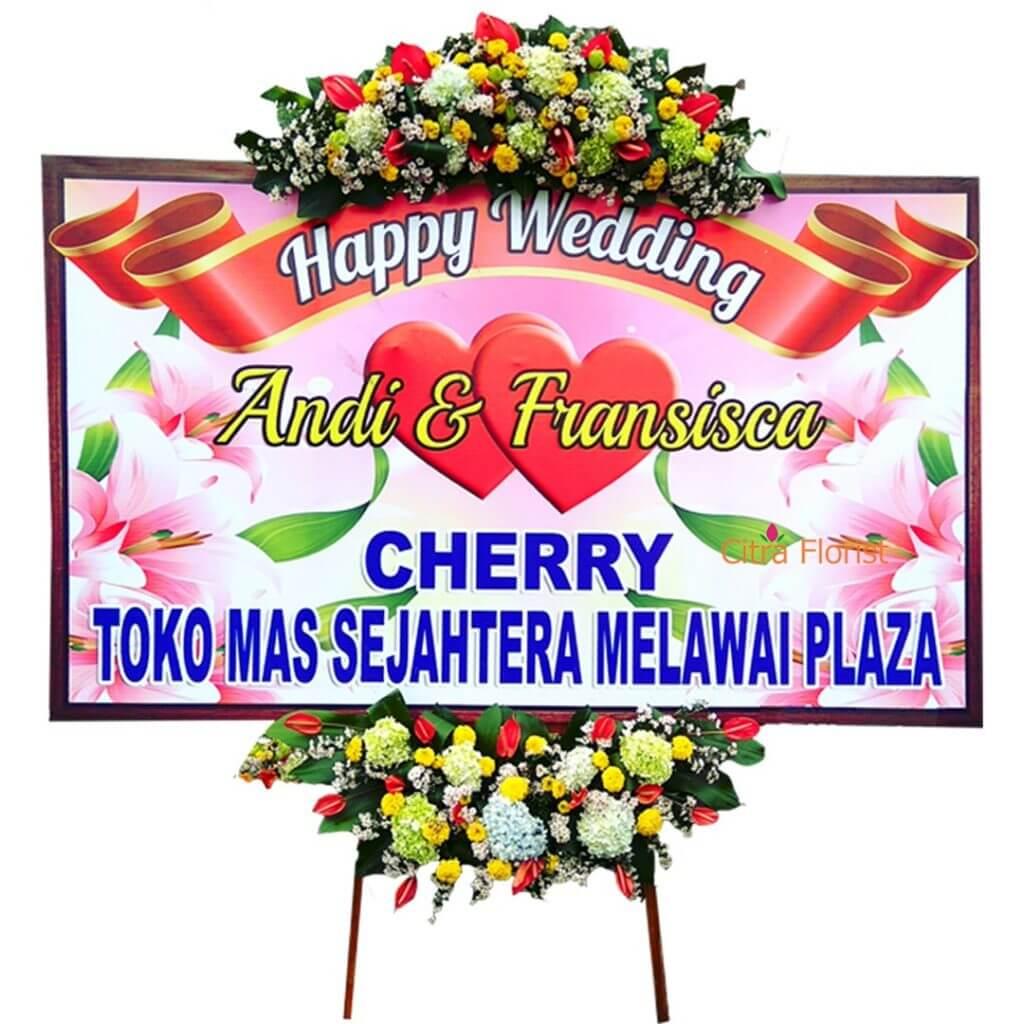 Flowerboard Wedding Banner 2 Meter Crown and Bottom Part