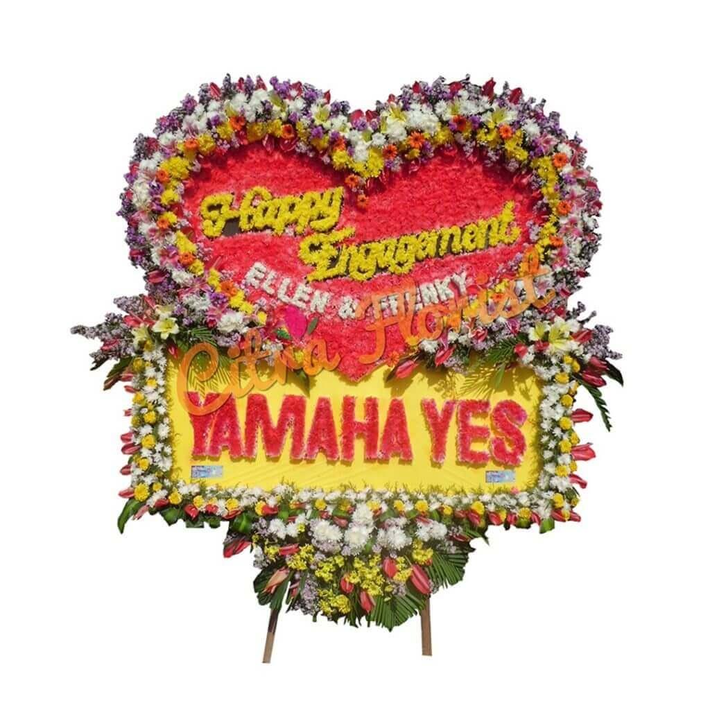 Flowerboard Wedding Sterofoam Full Flowers Love Shape