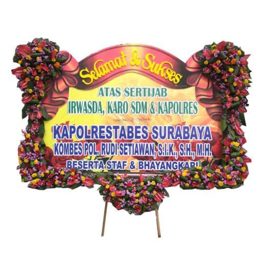 Bunga Papan Banner pita sterofoam letter U 1.5jt citra florist