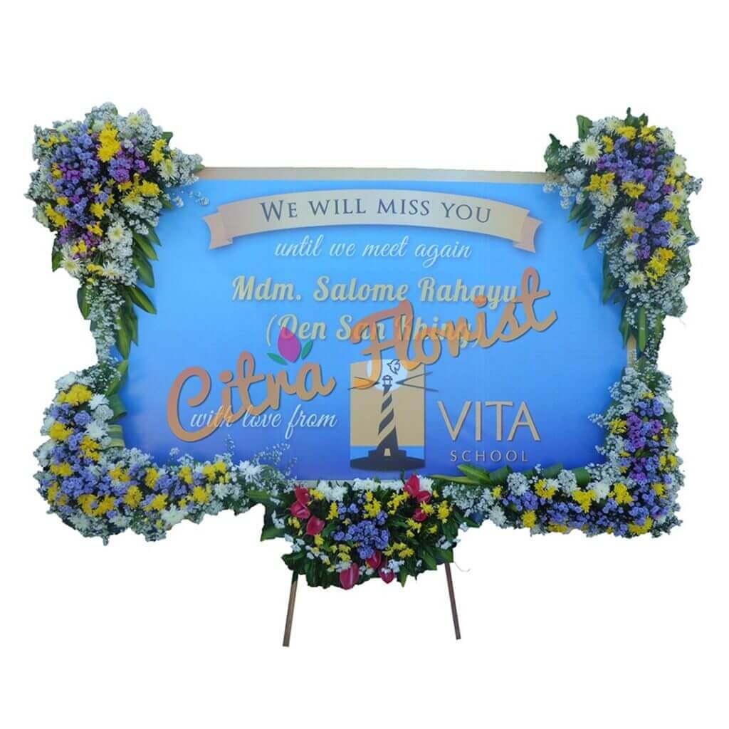 Flowerboard Congratulation Banner 2.5 Meter U Shape Flowers