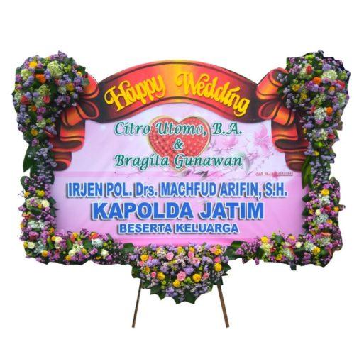 Bunga Papan Wedding Banner Pita sterofoam letter U 1.5jt citra florist