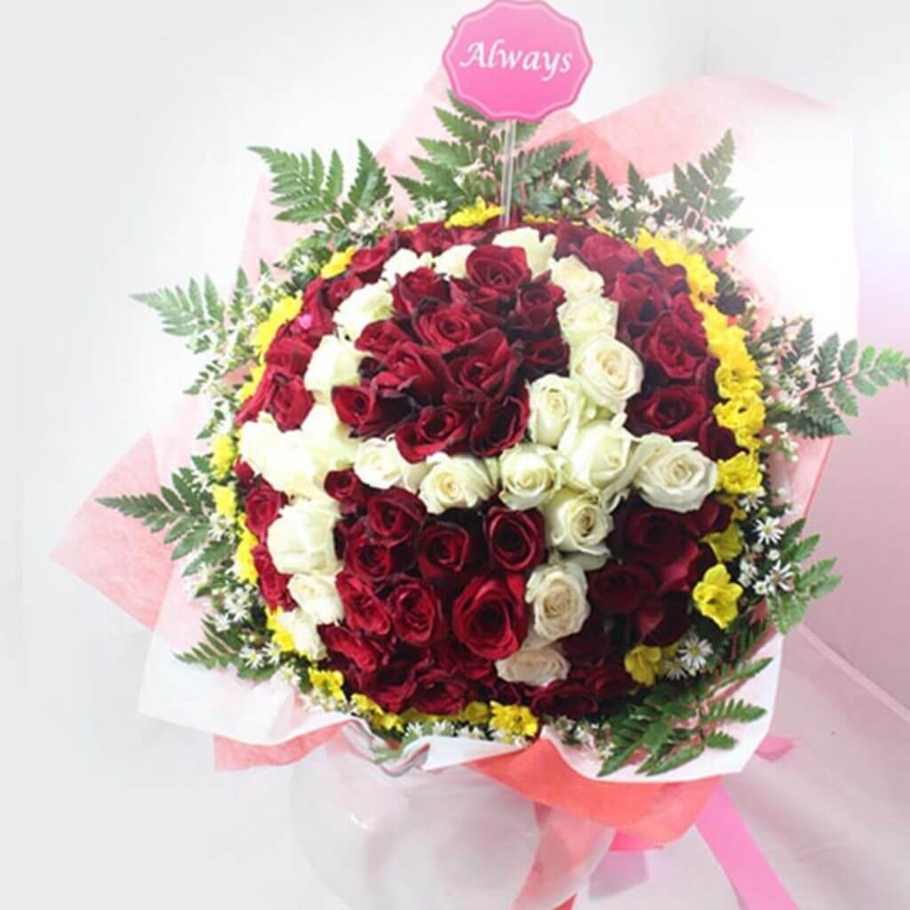 (SBY) Bouquet Circle Mix Roses