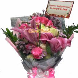 buket tangan mawar lily citra florist