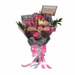 buket tangan mawar lily citra florist full