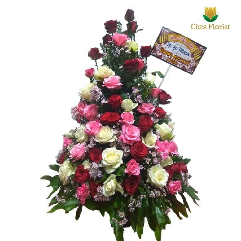 (SBY) Buket Meja Segar High Style Full Roses