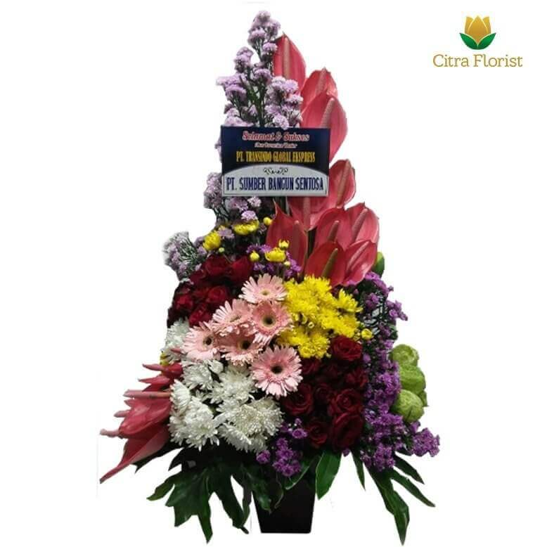 (SBY) Buket Meja Segar High Style Mix Flower with Gebra