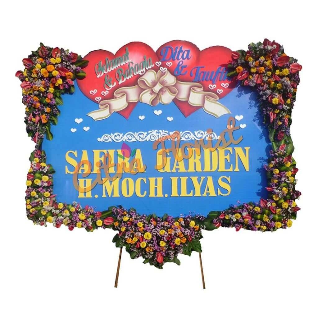 Flowerboard Wedding Sterofoam 2.5 Meter U Shape Flowers