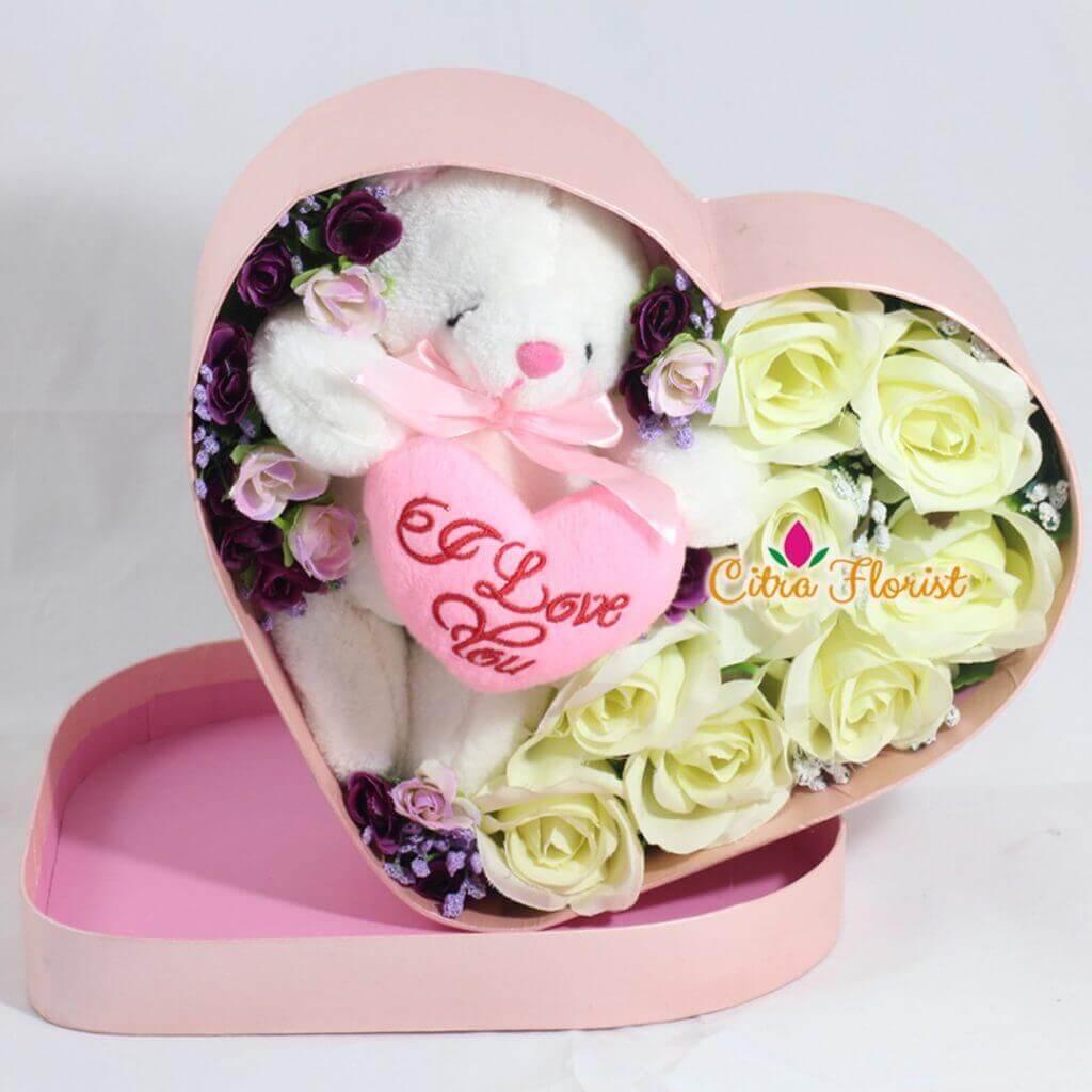 (SBY) Artificial Flowerbox Sleeping Love Pink