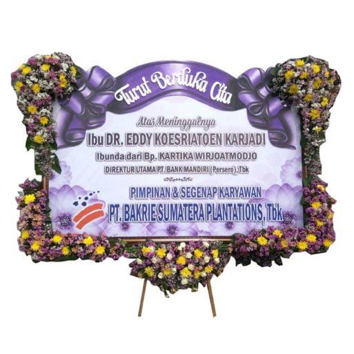 papan bunga duka banner letter u pita sterofoam citra florist