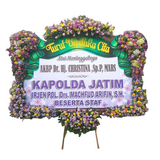 papan bunga duka letter u banner 1.5jt citra florist pita sterofoam