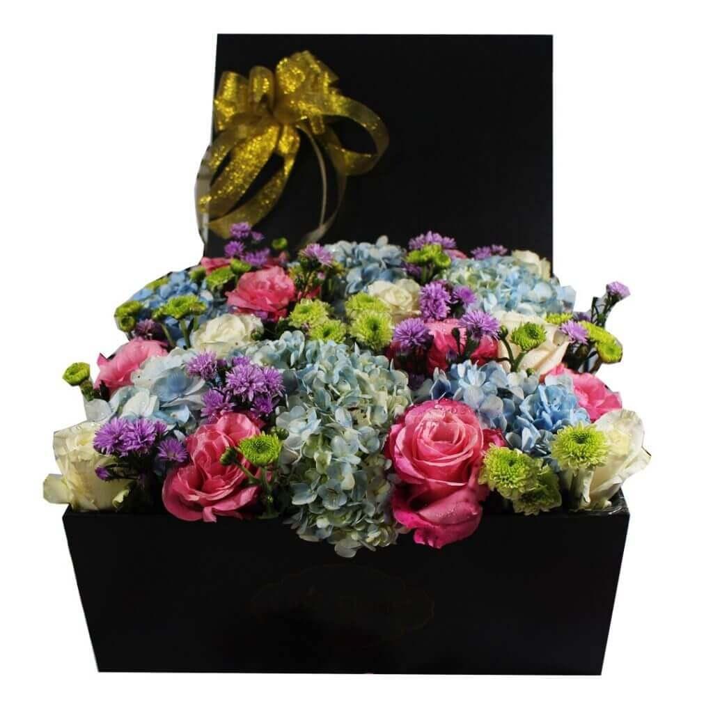 Fresh Flowerbox Mix Fleur Big Square Black