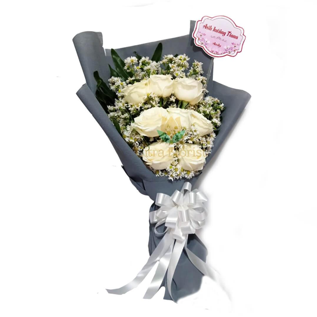 (SBY) Bouquet Blush White